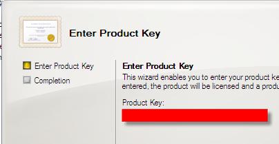 exchange server 2007 product key