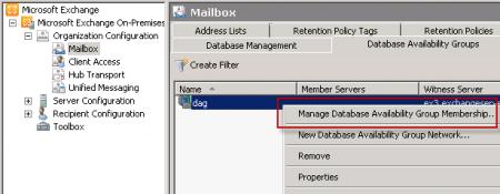 Manage Database Availability Group Members