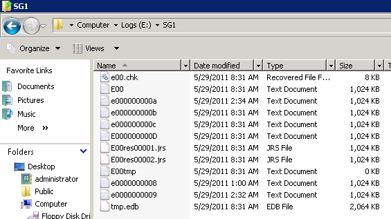 Moving Storage Group and Database File Paths in Exchange Server 2007