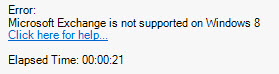 Microsoft Exchange is not supported on Windows 8