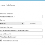 Warning: Please Restart the Microsoft Exchange Information Store Service After Adding New Mailbox Databases