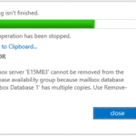 How to Remove a DAG Member in Exchange Server 2013