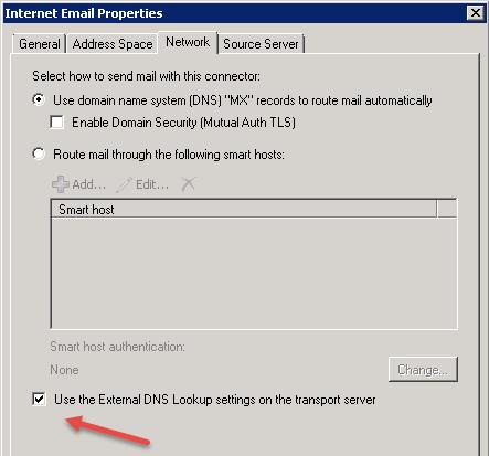 ip name lookup failed sendmail