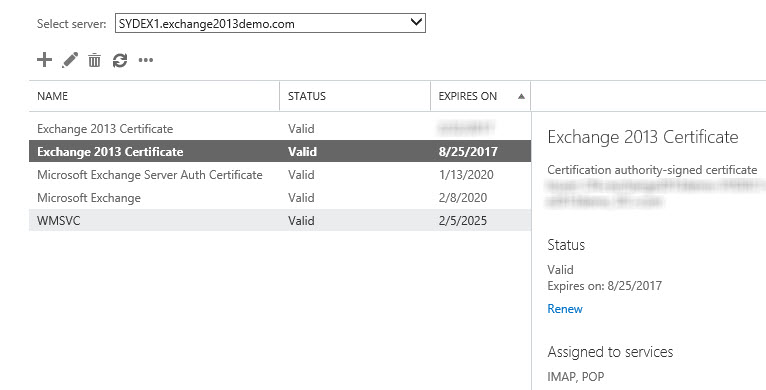 Exchange Server 2013 Renewing An Ssl Certificate