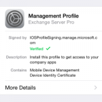 Office 365 Mobile Device Management Enrolment on Apple iOS Devices
