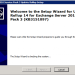 Exchange Server 2010 Service Pack 3 Update Rollup 14