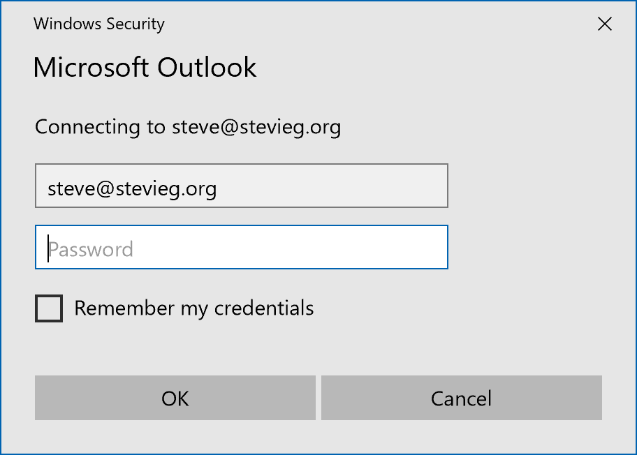How to change microsoft outlook password 2020