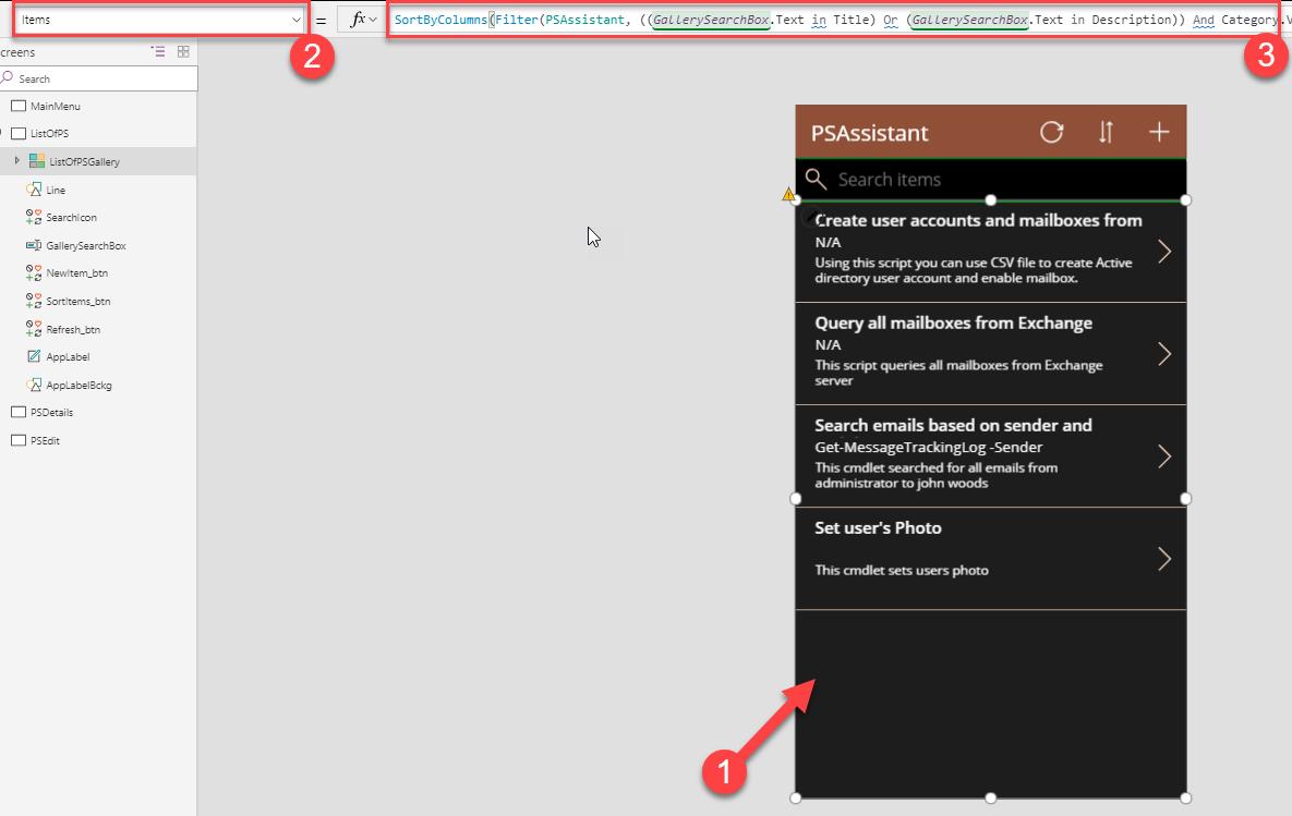 PSAssistant screenshot
