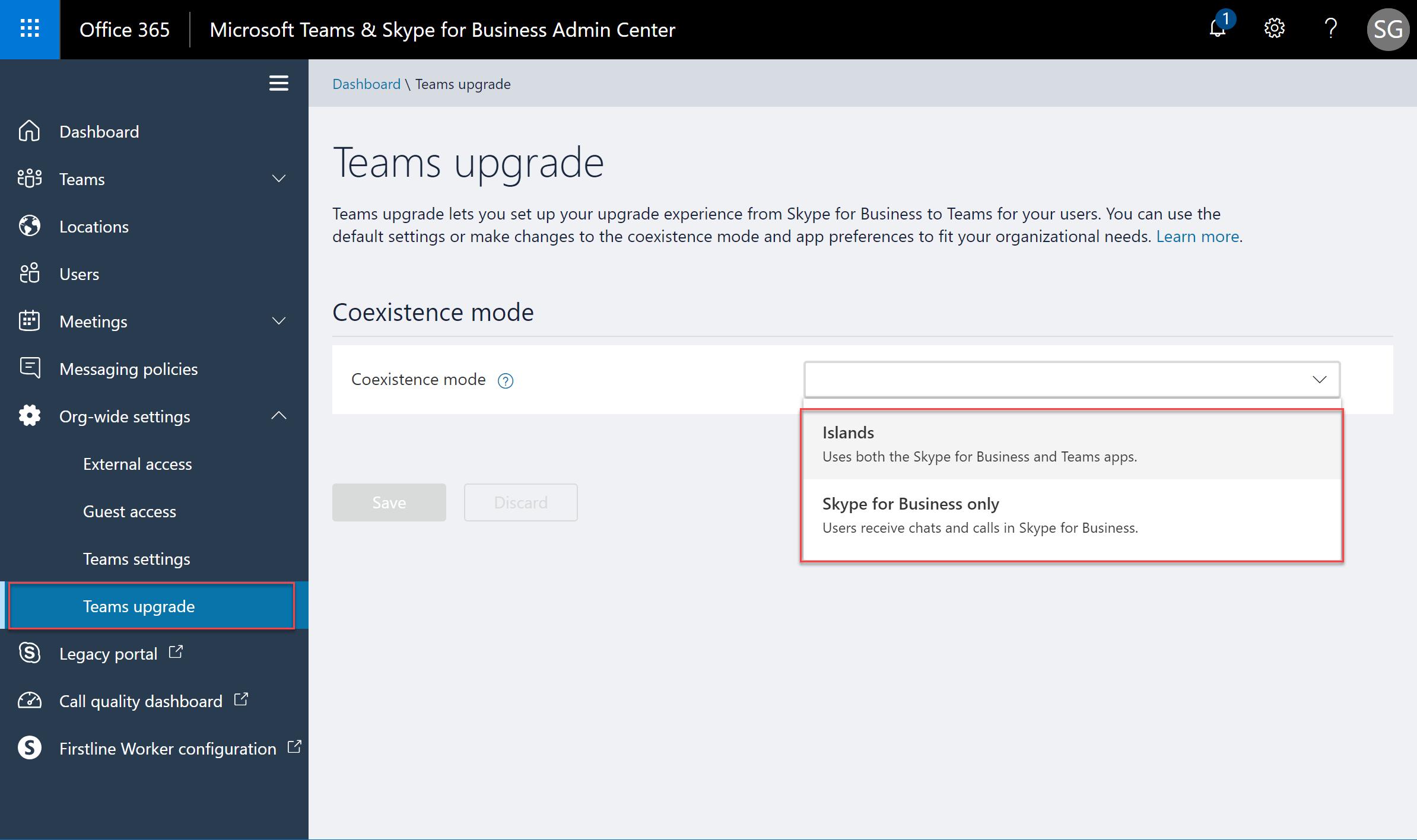 Microsoft Teams & Skype for Business Admin Center