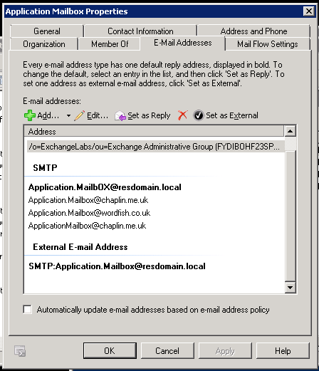 SMTP Bad Default Reply to Address