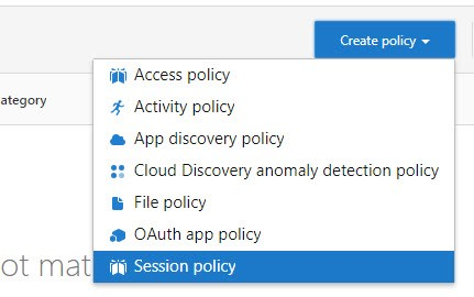 Create session policy.