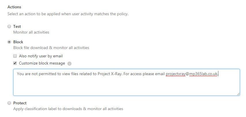 Block access file.