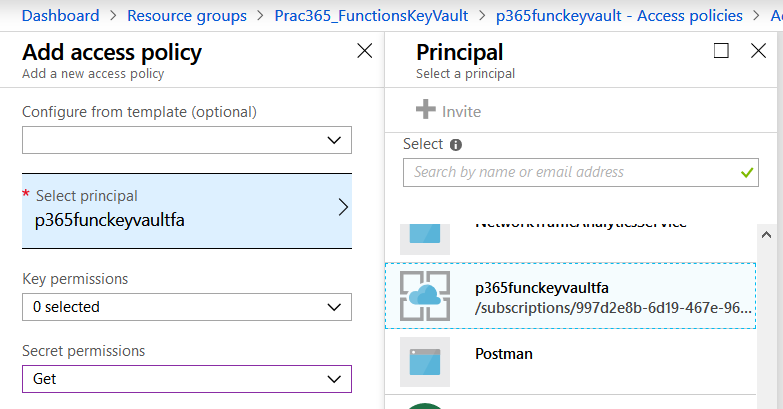 Connecting the Key Vault with the Function App