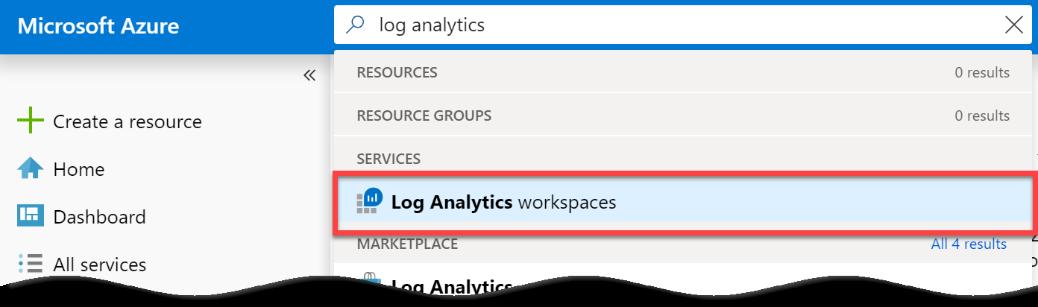 Log Analytics workspaces in Azure Sentinel