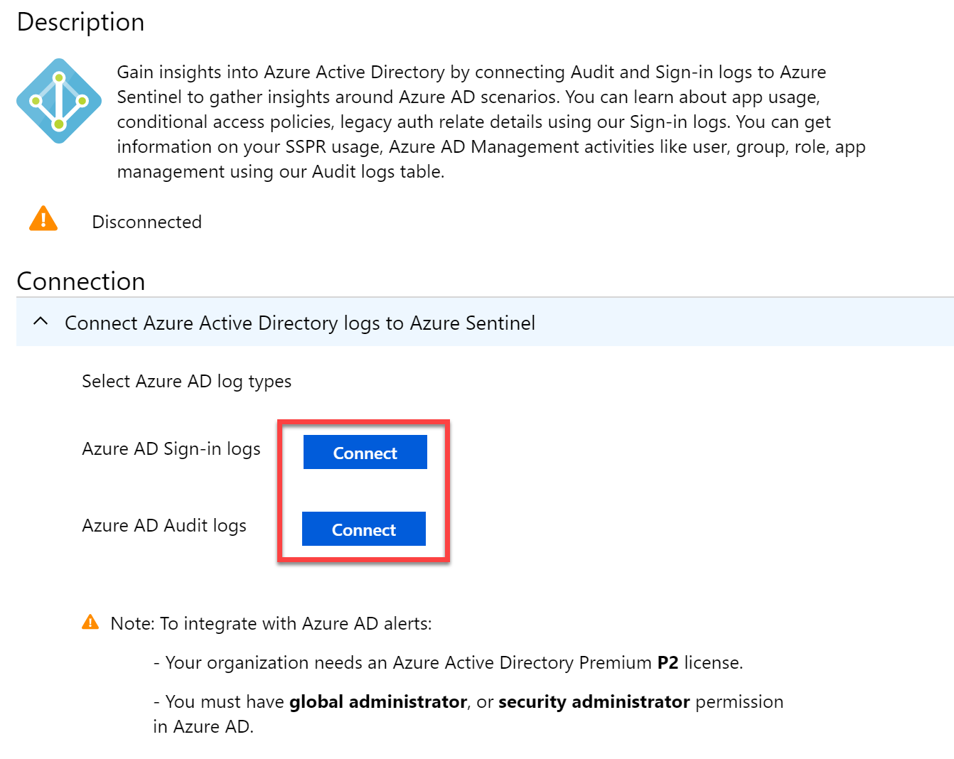 Connect to Azure AD Sign-in logs