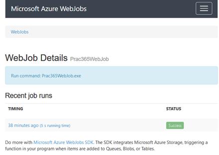Microsoft Azure Web Jobs Details