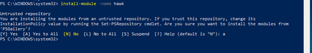 Installing the Hawk PowerShell Module